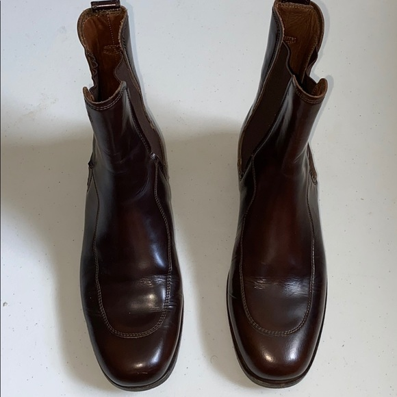 womens tod's brown leather ankle boots